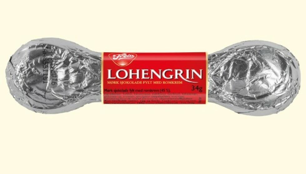 <strong>KULTURELL:</strong> Lohengrin må være Norges mest kulturelle sjokolade. Oppkalt etter en opera, lansert på Nationaltheatret, formgitt av en arkitekt. Foto: Mondelez Norge