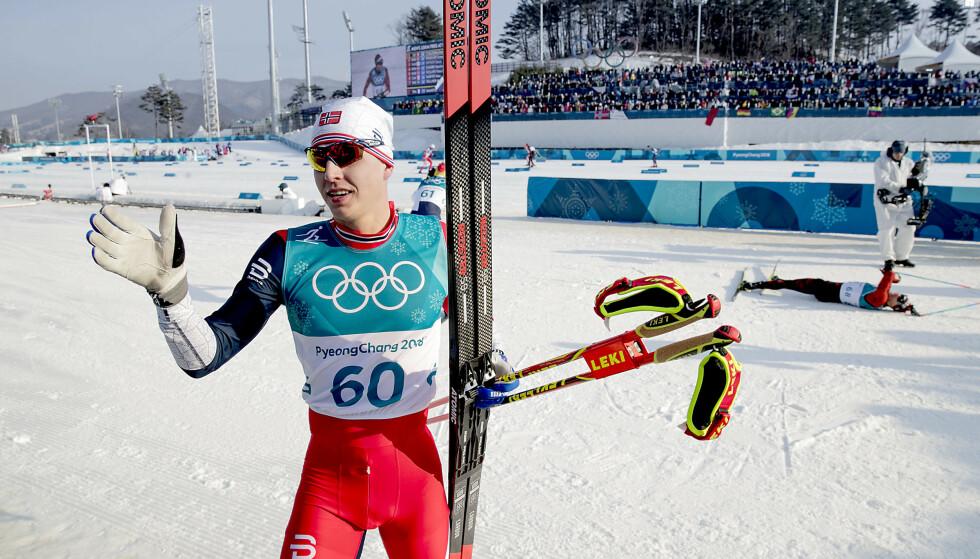 KONTRASTER: OL-eventyret i Pyeongchang er historie for Simen Hegstad Krüger. I Seefeld kan han bli reserve helt fram til VM-femmila. Foto: Bjørn Langsem / Dagbladet