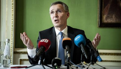 VI VET: Stoltenberg sier Lavrov benekter at russerne står bak jammingen av GPS-signaler, men framholder at NATO vet at de er ansvarlige. Foto: Lars Eivind Bones\Dagbladet