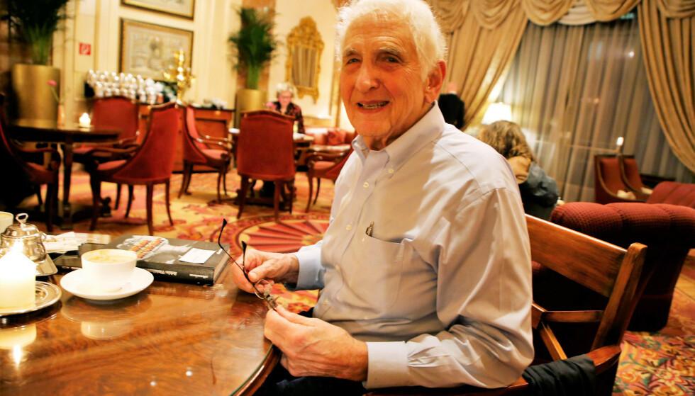 WHISTLE-BLOWER: Daniel Ellsberg (87) slo alarm om Vietnamkrigen, og var med på å forandre historien. Foto: Asbjørn Svarstad