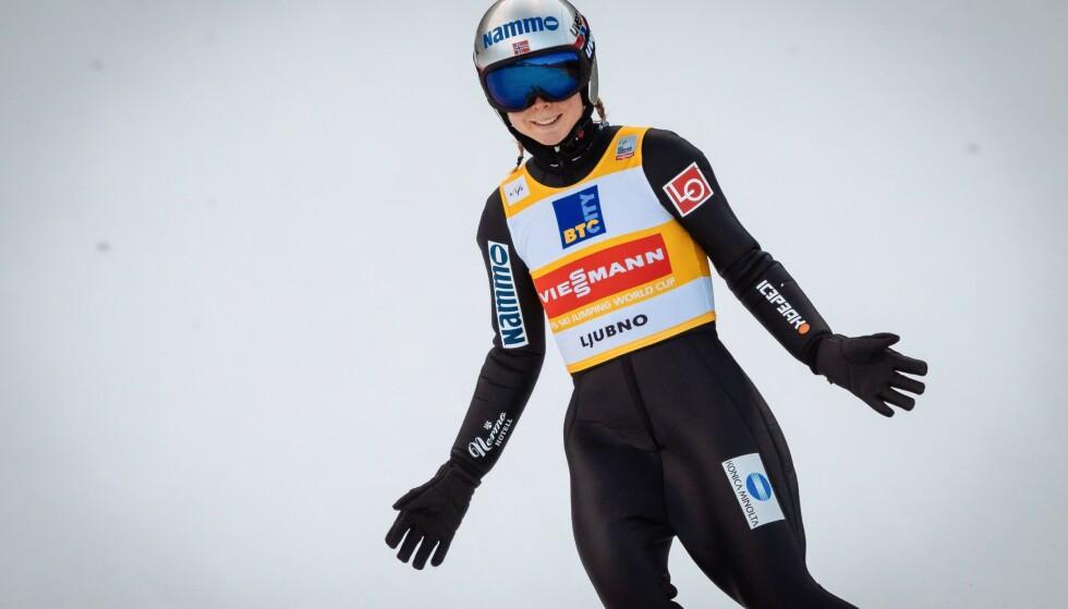 SEIER: Maren Lundby vant igjen. Foto: Jure Makovec / AFP