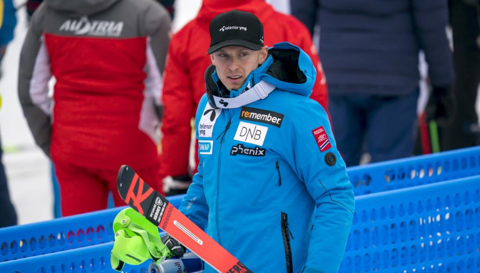 TRENER FOR SEG SELV: Alpinist Henrik Kristoffersen. Foto: Cornelius Poppe / NTB scanpix