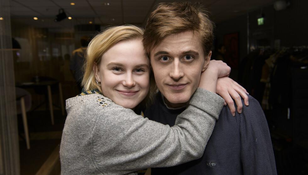 SPILLER PAR: Emma Bones og Axel Bøyum spiller paret Camilla Mikkelsen og Adrian Austnes i «Heimebane». Foto: Lars Eivind Bones / Dagbladet