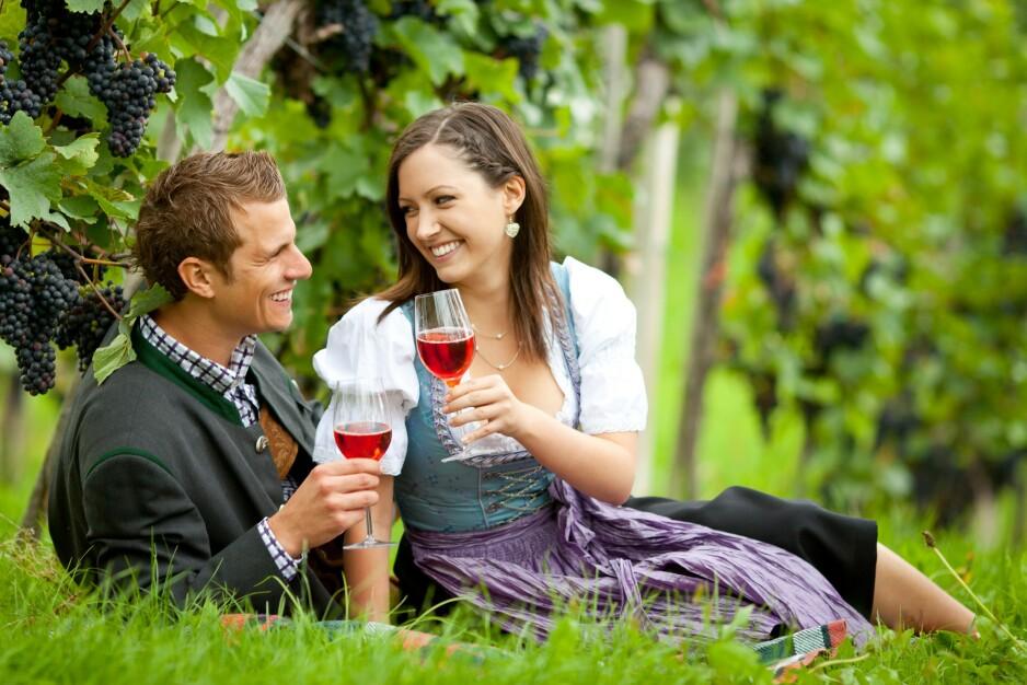 RØDVIN FRA ØSTERRIKE: Det er Burgenland i sørøst som er hovedsete for produksjonen av rødvin med appellasjonen Eisenberg DAC som den viktigste for kvalitetsvin. Foto: Shutterstock / NTB scanpix