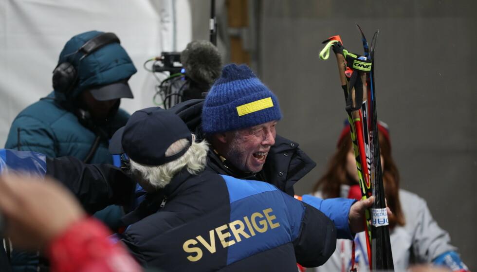 RASER: Sjef for det svenske skiskytterlandslaget Wolfgang Pichler er ikke fornøyd med SAS etter stor blemme fra flyselskapet. Foto: NTB Scanpix
