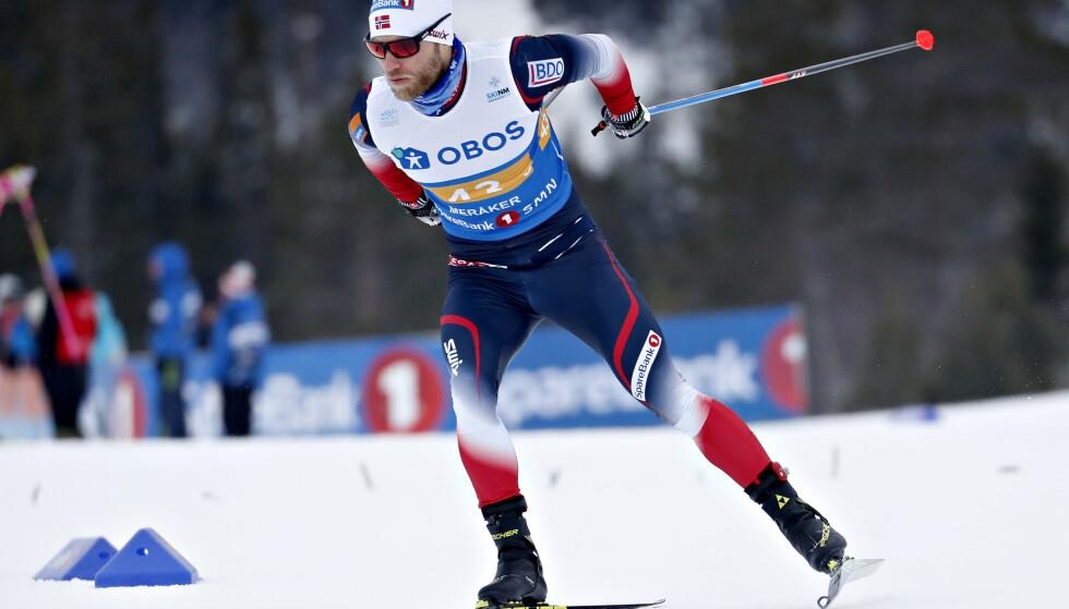 USIKKER PÅ STAFETTPLASSEN: Martin Johnsrud Sundby, her under NM på ski i Meråker, må lykkes tidlig i årets VM for å få plass på stafettlaget.  Foto: Bjørn Langsem / Dagbladet