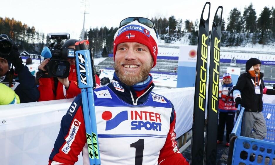 MEDALJEJAKT: Martin Johnsrud Sundby jakter sin første medalje i årets ski-VM. Her er han etter femmila under ski-VM 2017 i Lahti.  Foto: Terje Pedersen / NTB scanpix