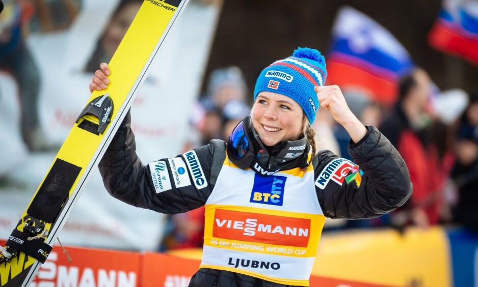 GOD FORM: Maren Lundby viste fantastisk form i forkant av VM. Foto: Jure Makovec / AFP / NTB Scanpix