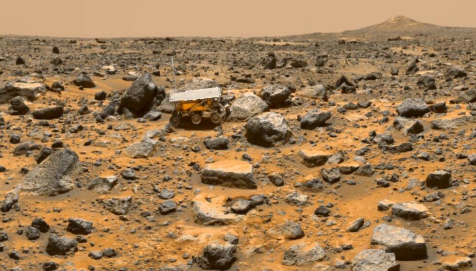MÅLET: Det golde landskapet på den røde planeten er målet for ekspedisjonen som Nasa planlegger å gjennomføre i 2033. Foto: Nasa.