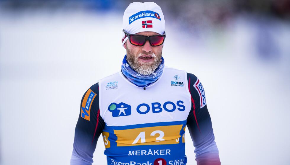 MEDALJEHÅP: Martin Johnsrud Sundby er en av de norske medaljehåpene under dagens femmil. Foto: Ole Martin Wold / NTB scanpix