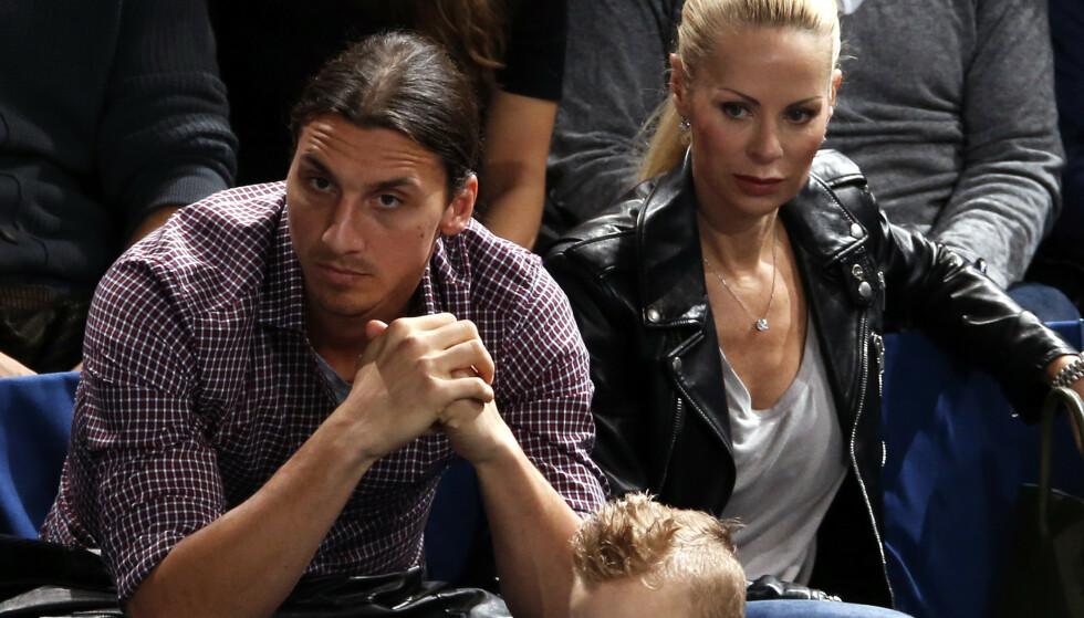 SAMBOERE: Zlatan Ibrahimovic, og Helena Seger har vært sammen siden 2001. Foto: AP Photo/Francois Mori