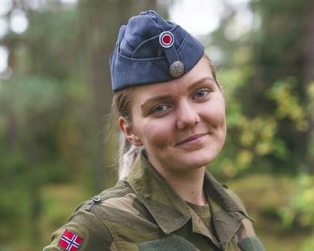 HOVEDTILLITSVALGT FORT LUFTFOESVARET: Sara Aasen har base på Rygge flystasjon. Foto: Forsvaret.