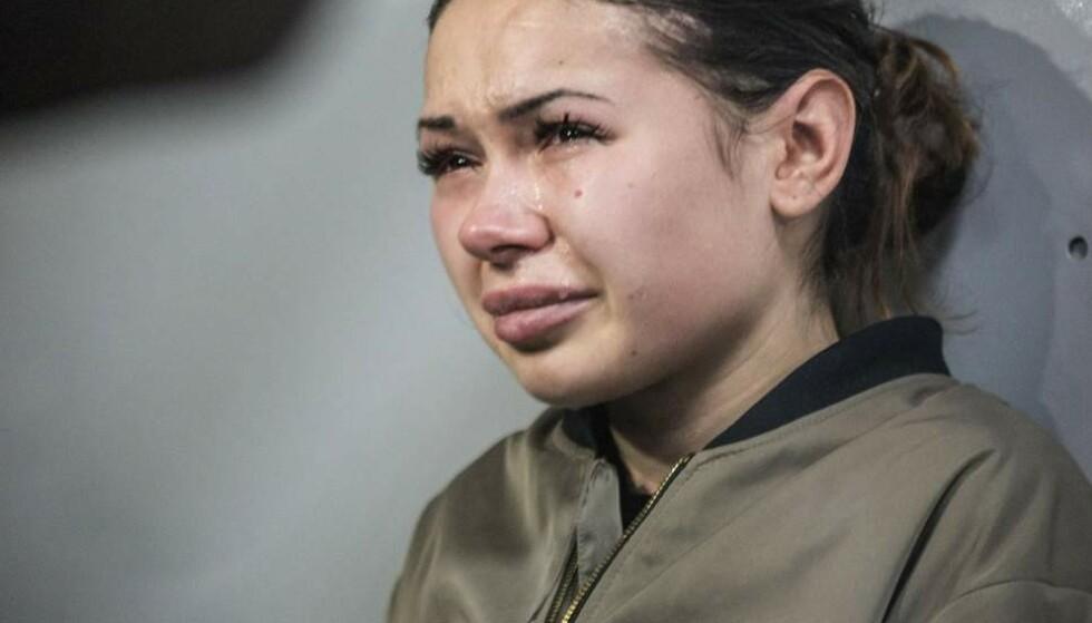 TILSTÅR: Alyona Zaitseva erkjenner straffskyld etter at meide ned 12 personer 18. oktober 2017. Foto: Pavlo Pakhomenko / EPA