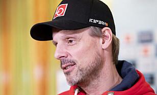 KJEMPER I MOTGANG: Trener Alexander Stöckl erkjenner at sesongen ikke har svart til forventningene. Foto: Fredrik Hagen / NTB scanpix