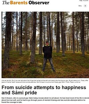INTERVJUET: Dan Eriksson fortalte sin historie. Foto: Faksimile
