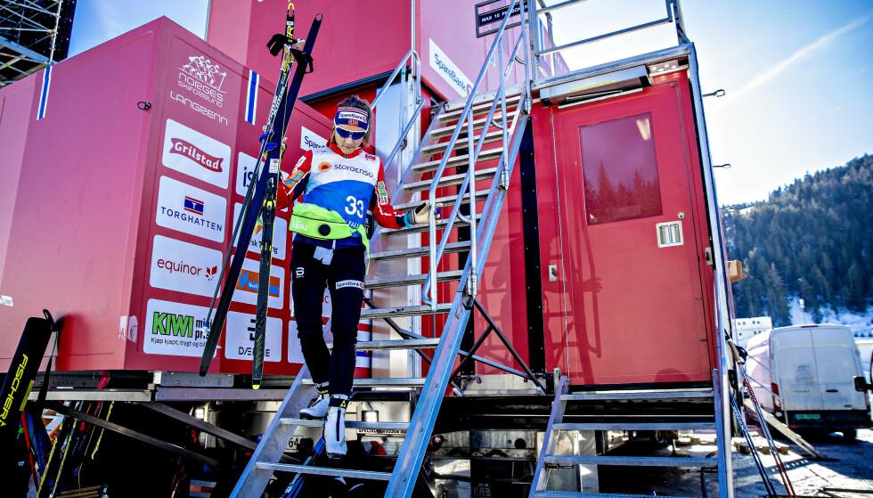 UTFORDRERPOSISJON: Maiken Caspersen Falla kommer til VM i Seefeld som en utfordrer til gullet. Foto: Bjørn Langsem/Dagbladet