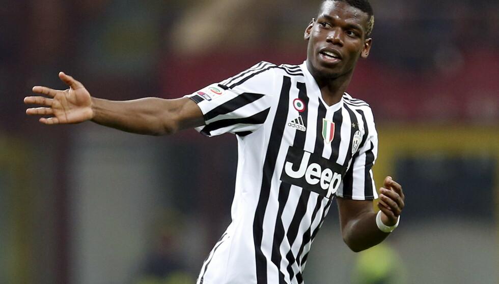 HERJET: Paul Pogba var brennhet i Juventus. Nå er han det samme for Manchester United. Foto: Reuters.