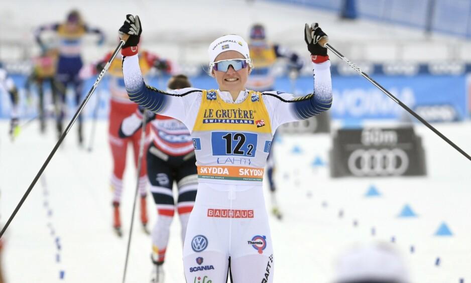LYNRASK: Maja Dahlqvist er verdens tredje raskeste kvinne i år. På Fantaski koster svensken nesten ingenting. Foto: NTB scanpix