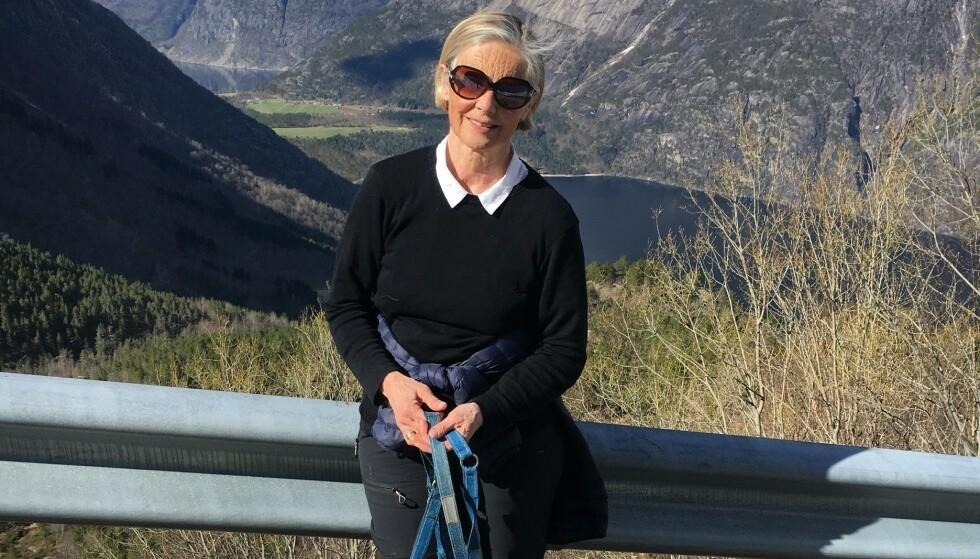 DREPT: Bjørg Marie Skisvold Hereid (67) ble angrepet av en mann på en kirkegård i Haugesund tirsdag. Hun døde av skadene hun ble påført. Foto: Privat