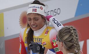 I TÅRER: Kristine Stavås Skistad. Foto: Bjørn Langsem