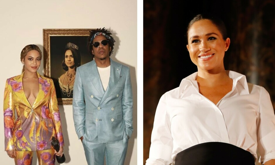 HYGGELIG GEST: Da Beyoncé (37) og Jay Z (49) vant pris under Brit Awards i går, benyttet de muligheten til å hylle hertuginne Meghan (37). Foto: Skjermdump fra Instagram / NTB Scanpix