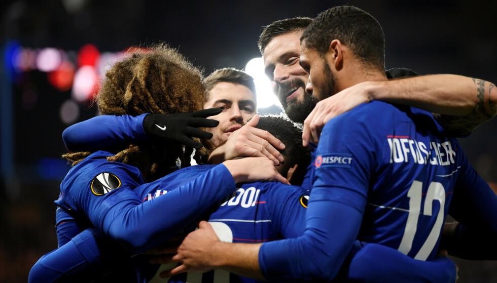 SEIRET: Chelsea tok en komfortabel 3-0-seier over Andreas Vindheim og Malmö i europaligaen torsdag. London-klubben avanserte til åttedelsfinalen med 5-1 sammenlagt. Foto: NTB Scanpix