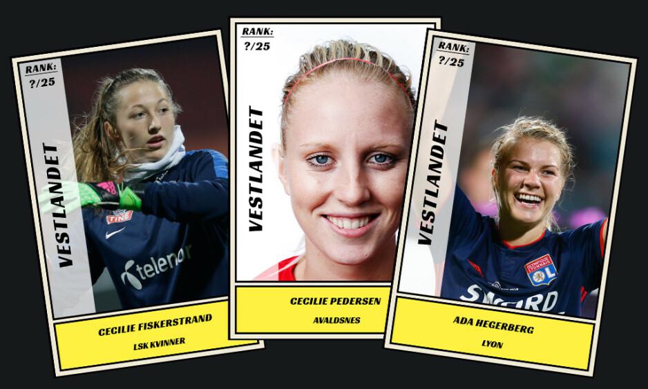 Dagbladet kårer de 25 beste fotballspillerne fra Vestlandet