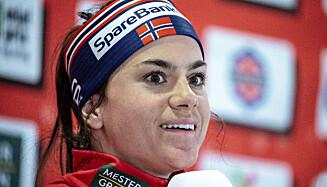 MEDALJEKANDIDAT: Heidi Weng vant en sølvmedalje under VM i Seefeld i 2019. Nå blir det spennende å se om 29-åringen blir nødt til å ekspandere trofeeskapet sitt etter mesterskapet i Obersdorf. Foto: Bjørn Langsem / Dagbladet
