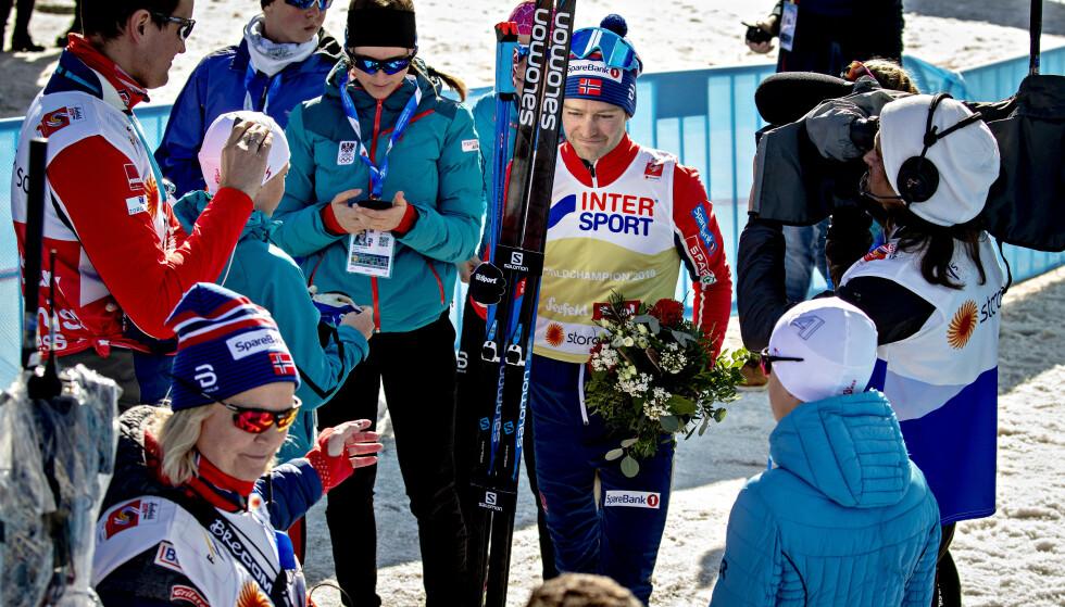 EVENTYR: Historien til Sjur Røthe er som et eventyr. Vossingens VM-gull hjalp selv Iivo Niskanen til å legge vekk sinnet. Foto: Bjørn Langsem / Dagbladet