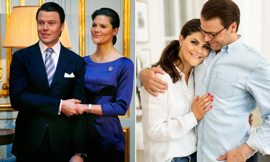 FORLOVET: I dag er det ti år siden forlovelsen mellom kronprinsesse Victoria og prins Daniel ble annonsert. Foto: NTB Scanpix / Linda Broström, Det svenske kongehuset