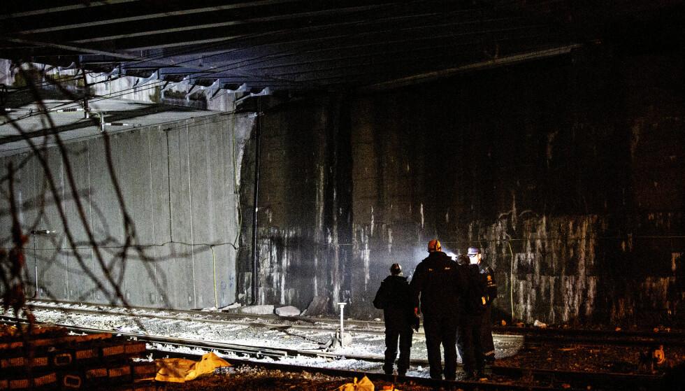 TOGTUNNEL: De tre tenåringene kom i kontakt med en strømførende kilde inne i tunnelen, som ligger mellom Skillebekk og Filipstad i Oslo. En av guttene ble bekreftet omkommet i går. De to andre ble innlagt på sykehus med livstruende skader. Foto: Nina Hansen/ Dagbladet