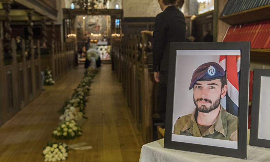 DØDE: Sersjant Hågen Skattum døde i en sprengningsulykke på skytefelt på Skjold i Troms. Foto: Marit Hommedal / NTB scanpix