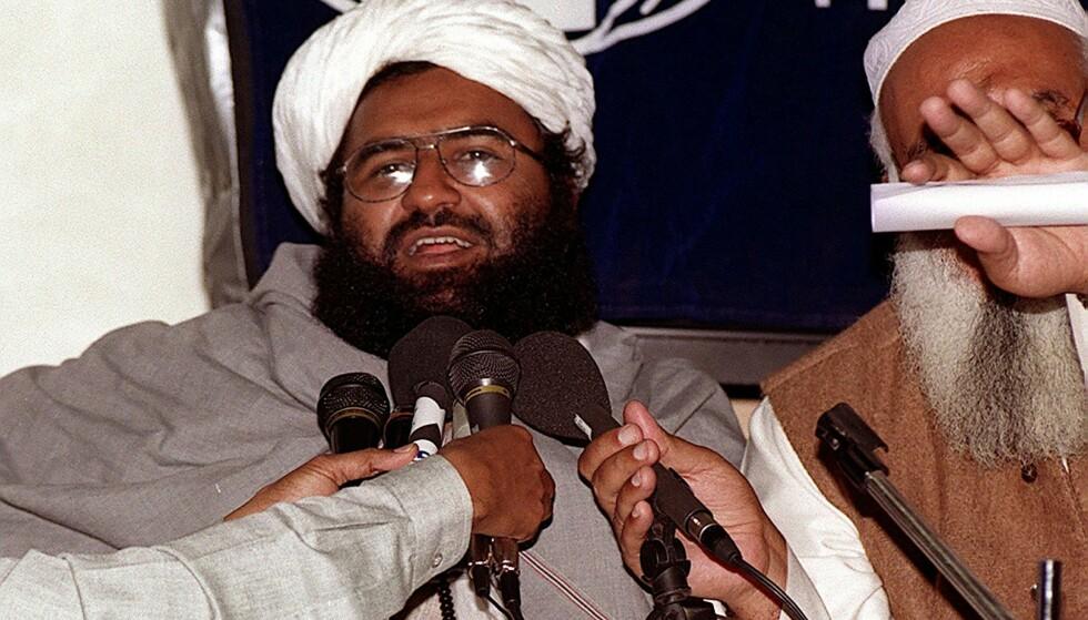 TERRORSJEF: Masood Azhar leder gruppa Jaish-e-Mohammad, som har som mål å frigjøre Kashmi fra India. Foto: Aamir QURESHI / AFP / NTB Scanpix