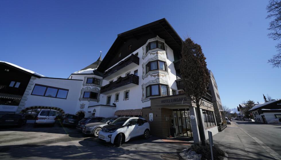 DOPINGPÅSTANDER: Det var razzia i VM-byen Seefeld ved Hotel Bergland der Østerrike bodde under VM. Foto: Fredrik Hagen / NTB scanpix