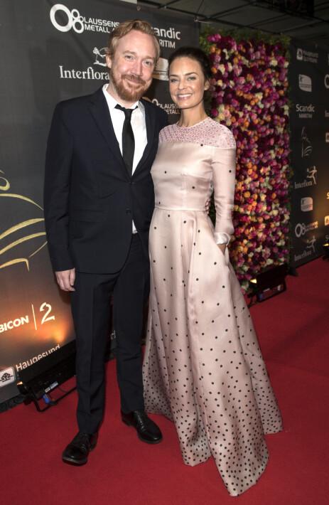 BLIR FORELDRE: Agnes Kittelsen og ektemannen venter barn sammen. Her under Amandaprisen i 2016. Foto: Andreas Fadum