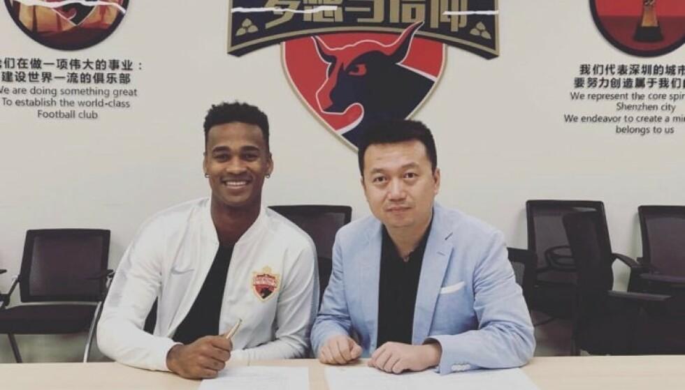 OFFISIELT: Ola Kamara er offisielt klar for kinesisk fotball. Foto: Skjermdump, Instagram.