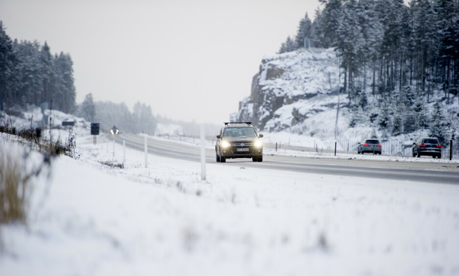 E6: Det ble meldt om ekstreme hastigheter fra Volvoen på E6 i Hedmark. Bilen på bildet har ingenting med råkjøringen å gjøre. Foto: Jon Olav Nesvold / NTB scanpix
