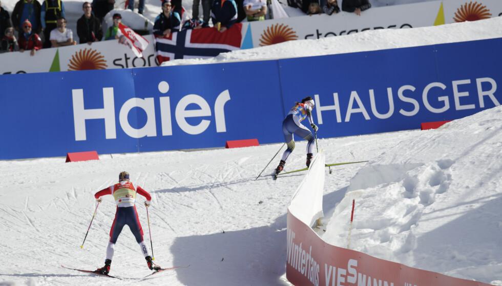 FIKK NOK: Jacobsen greide ikke å henge på da Kalla skrudde opp tempoet. Foto: Bjørn Langsem