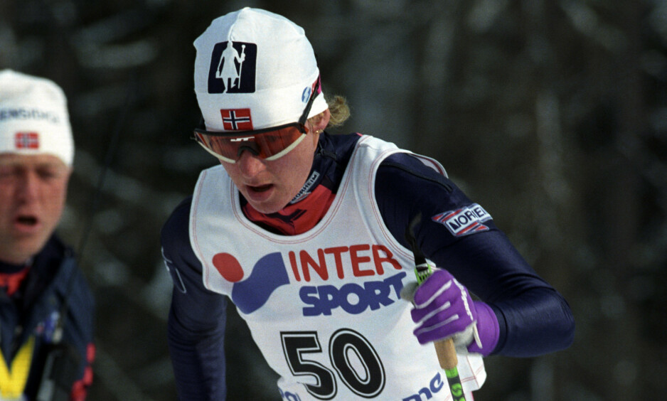 VANT GULL: Fra 5-kilometeren under VM i Val di Fiemme i 1991, der Trude Dybendahl tok gullmedaljen. Foto: Per R. Løchen / NTB Scanpix