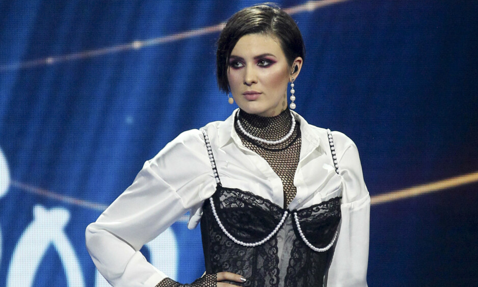 STILLER IKKE: 27 år gamle Maruv vant Ukrainas Eurovision-finale med låten «Siren Song». På tirsdag trakk hun seg. Foto: NTB Scanpix