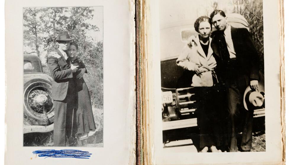PAR: Bonnie Elizabeth parker og Clyde Champion Barrow ranet banker og butikker, og var mistenkt for tretten drap. Foto: Heritage Auctions / HA.com