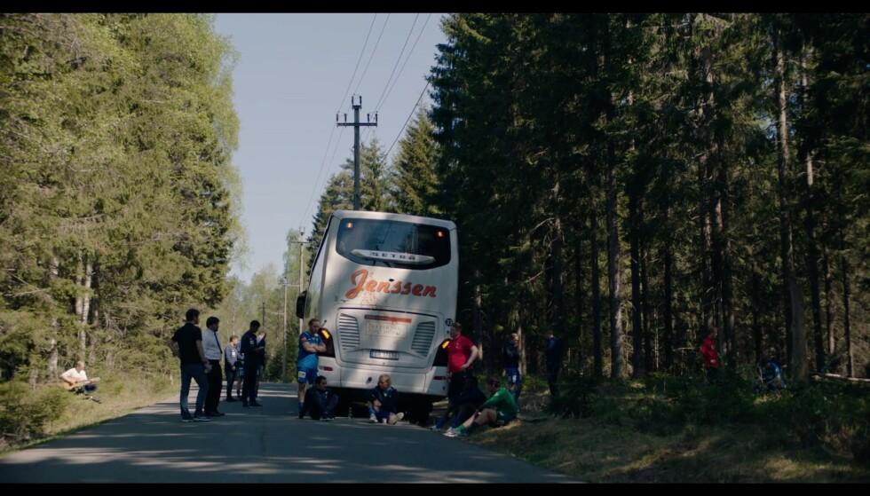 Hjulene på bussen går ikke lenger rundt og rundt :/ Foto: NRK