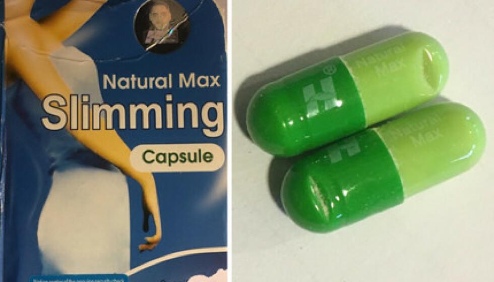 ADVARER: På pakkene fremstilles pillene som som naturlige og ufarlige, men nå advares det mot bruk av slankemiddelet «Natural Max Slimming». Foto: Läkemedelsverket