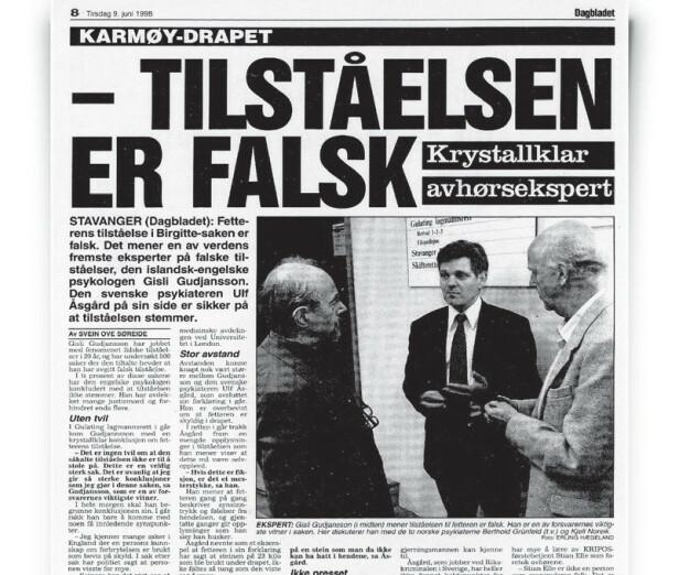 Faksimile fra Dagbladet.