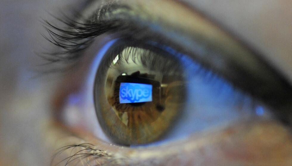 SKYPE: Flere av nettovergrepene skal ha blitt gjennomført via programmer som Skype og Omegle. Illustrasjonsfoto: Patrick Sinkel / AP