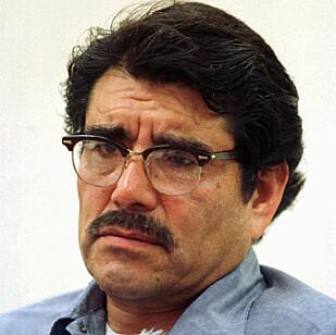 JUAN CORONA: Machete-morderen nektet for å stå bak drapene. Aktoratet mener han innrømmet de under en høring i 2011. Her fra en høring i 1987. Foto: AP / NTB Scanpix
