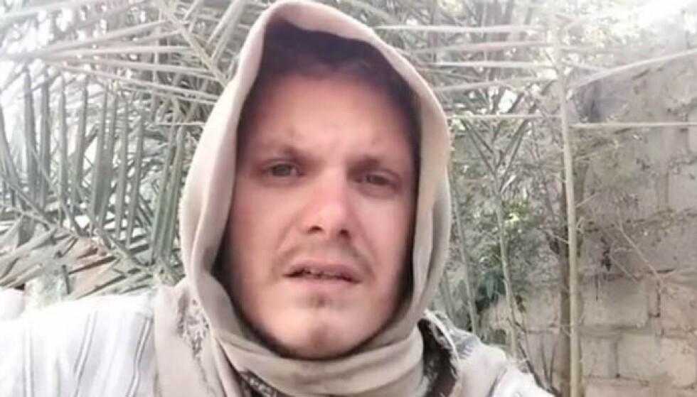 PROPAGANDA: Michael Skråmo i en av propagandavideoene for IS.
