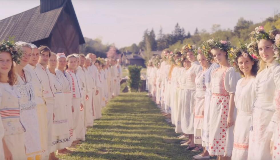MIDSOMMAR: Svensk midtsommer skal være tema for den nye filmen av «Hereditary»-regissøren. Foto: Skjermdump / A24