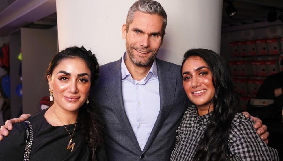 GJENGEN: Thomas Alsgaard er med i sin første realityserie, sammen med blant andre NRK-profil Vita Mashadi. Her er de fotografert med Vitas tvillingsøster Wanda. Foto: Espen Solli