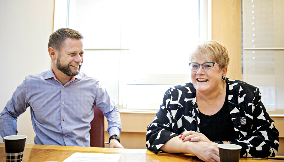 IMPONERT: Kultur- og likestillingsminister Trine Skei Grande er imponert over helseminister Bent Høies innsats for å rekruttere kvinnelige toppledere. Foto: Nina Hansen / Dagbladet